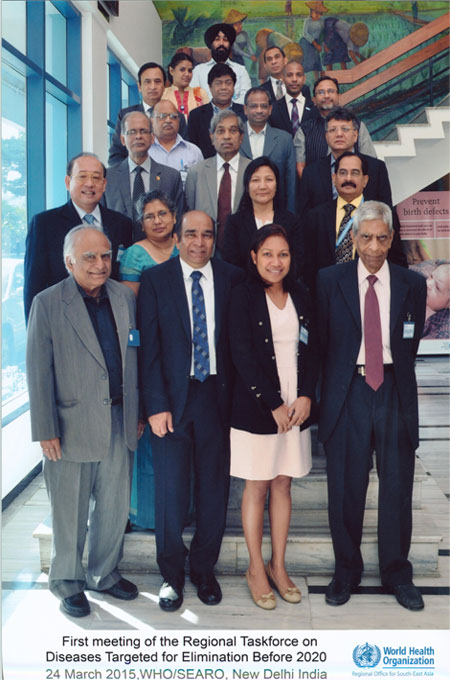 Director, NVBDCP participated in First Meeting of the Regional Task Force on Diseases Targeted for Elimination Before 2020\r\n24 March 2015, WHO/SEARO, New Delhi, India