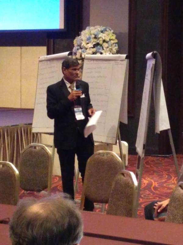 Dr. Sher Singh, Joint Director, NVBDCP presenting for high burdened countries in joint metin gof all groups of APMEN at Bangkok from 3-8 September 2018 for Malaria Elimination