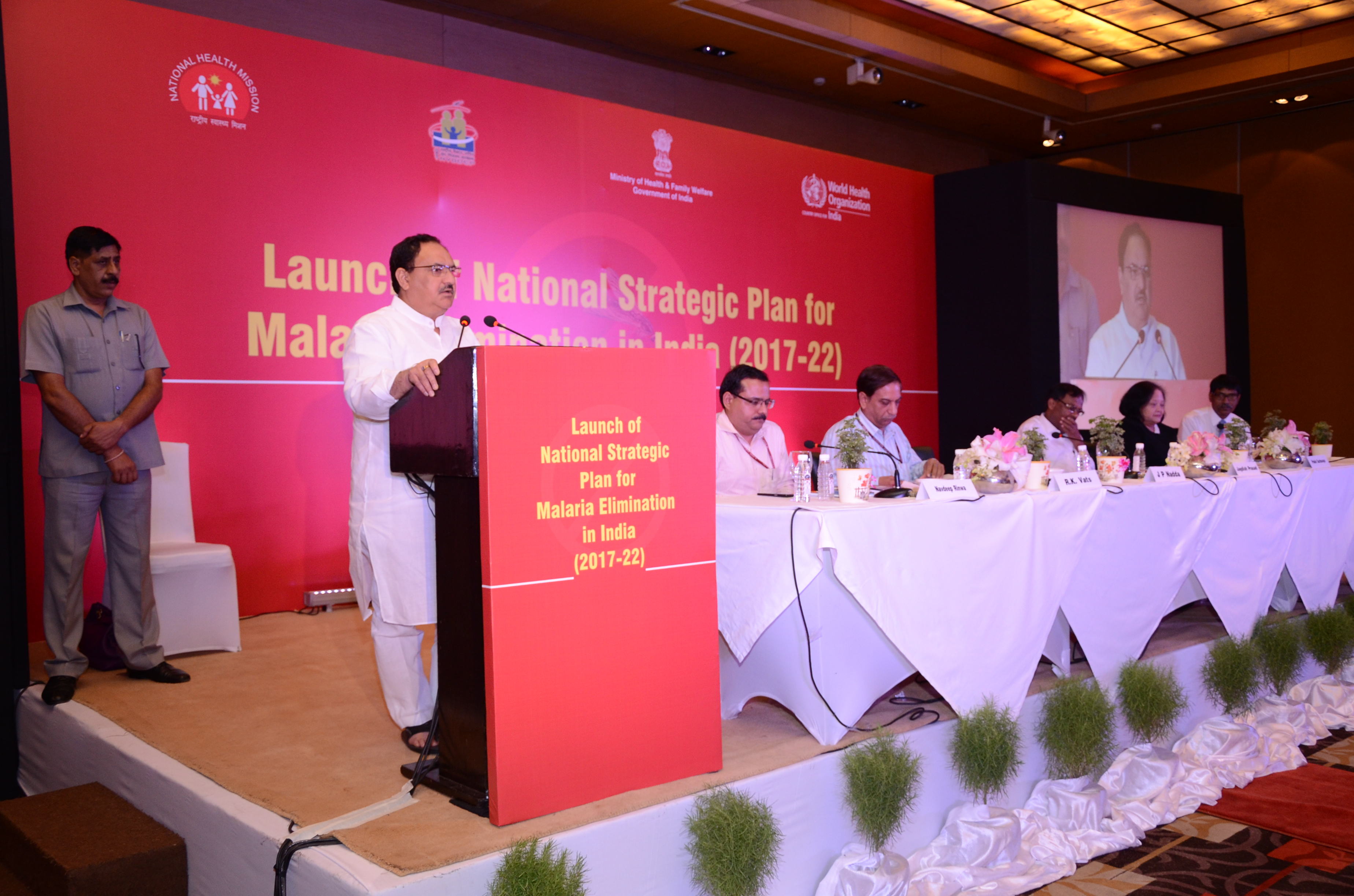 Launch of National Strategic Plan for Malaria Elimination in India (2017-22)