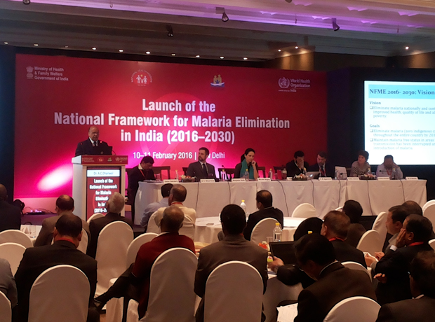 "Launch of ""The National Framework for Malaria Elimination (NFME) in India""\r\n10-11 Feb 2016 at Regency Ballroom, Hyatt Regency, New Delhi"