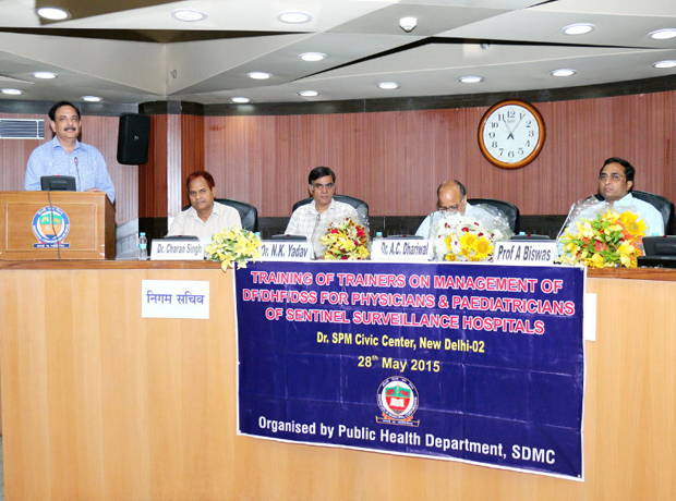 Training of Trainers on Management of DF/DHF/DSS\r\nFor Psysicians & Paediatricians of Sentinel Surveillance Hospitals\r\nOn 28 May 2015 - Dr. SPM Civic Center, New Delhi-02