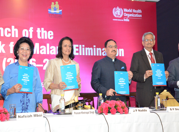 "Launch of ""The National Framework for Malaria Elimination (NFME) in India"" 10-11 Febuary 2016 at Regency Ballroom, Hyatt Regency, New Delhi"
